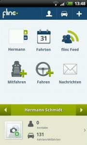 App von flinc auf dem Android Handy